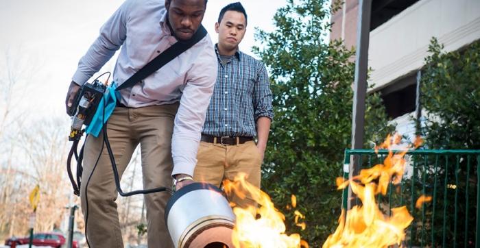 El dispositivo podría utilizarse en las cocinas de casas y restaurantes e incluso en el espacio, donde los extintores tradicionales no son tan eficientes por la microgravedad...